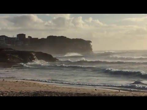 Rough sea at Bronte beach, Sydney, 28 feb 2016