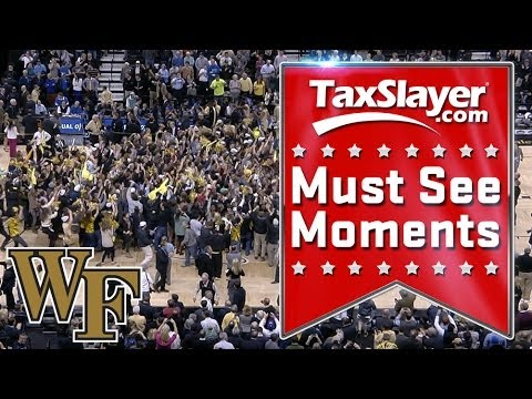 Wake Forest Students Storm Court After Beating Duke | ACC Must See Moment