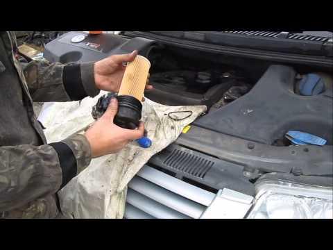 Замена масла в двигателе VW своими руками