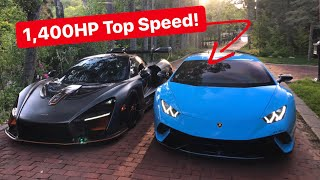 Testing TOP SPEED of 1,400HP Underground Racing TT Lamborghini