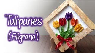 Tulipanes de filigrana, Quilling tulips