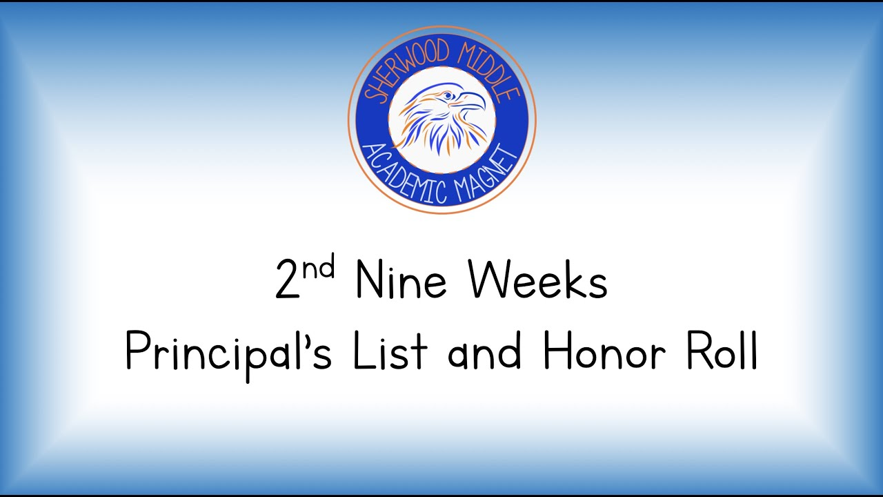 Principal's List/ Honor Roll Recognition