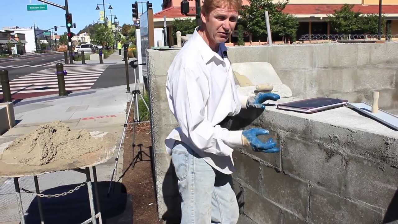 Rendering Cement Plaster On Concrete Or Cmu Walls Youtube