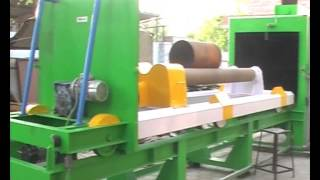 Air operated Roll Etching abrasive blasting machine