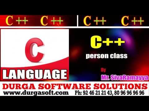 C++ tutorial || onlinetraining||person class by Sivaramayya