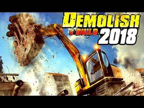 Demolish & Build - Bulldozing a GIANT Building! - Demolition Simulator - Demolish & Build 2018