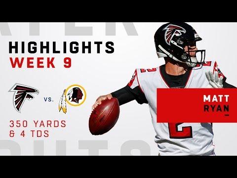 Matt Ryan Tosses 4 TDs & 350 Yards vs. Redskins