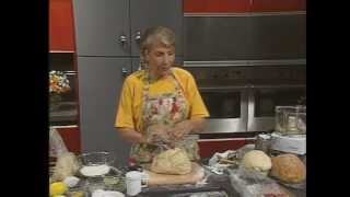Nathalie Dupree Cooks - Asparagus Soup With Shrimp And Country Ham And Cheese Bread