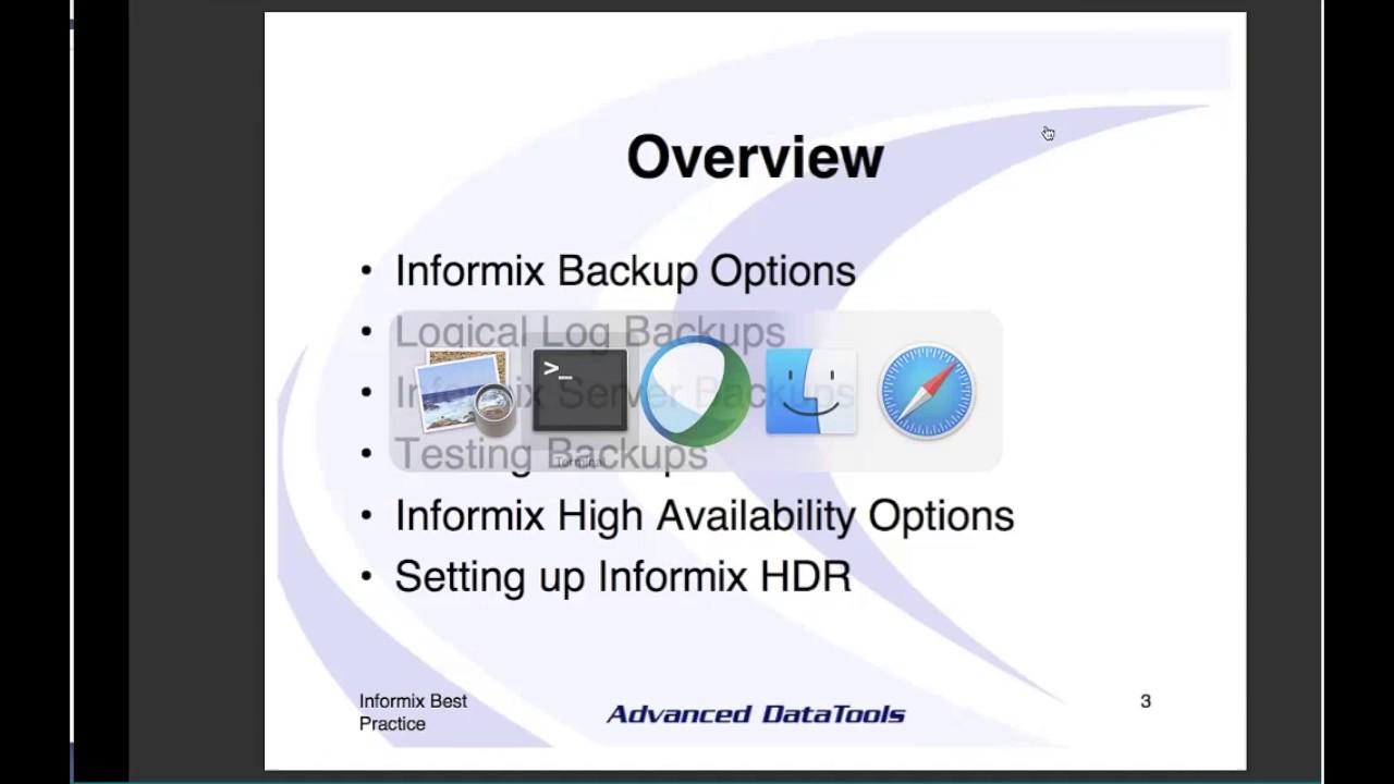 Advanced DataTools: Informix Database Performance Webcasts