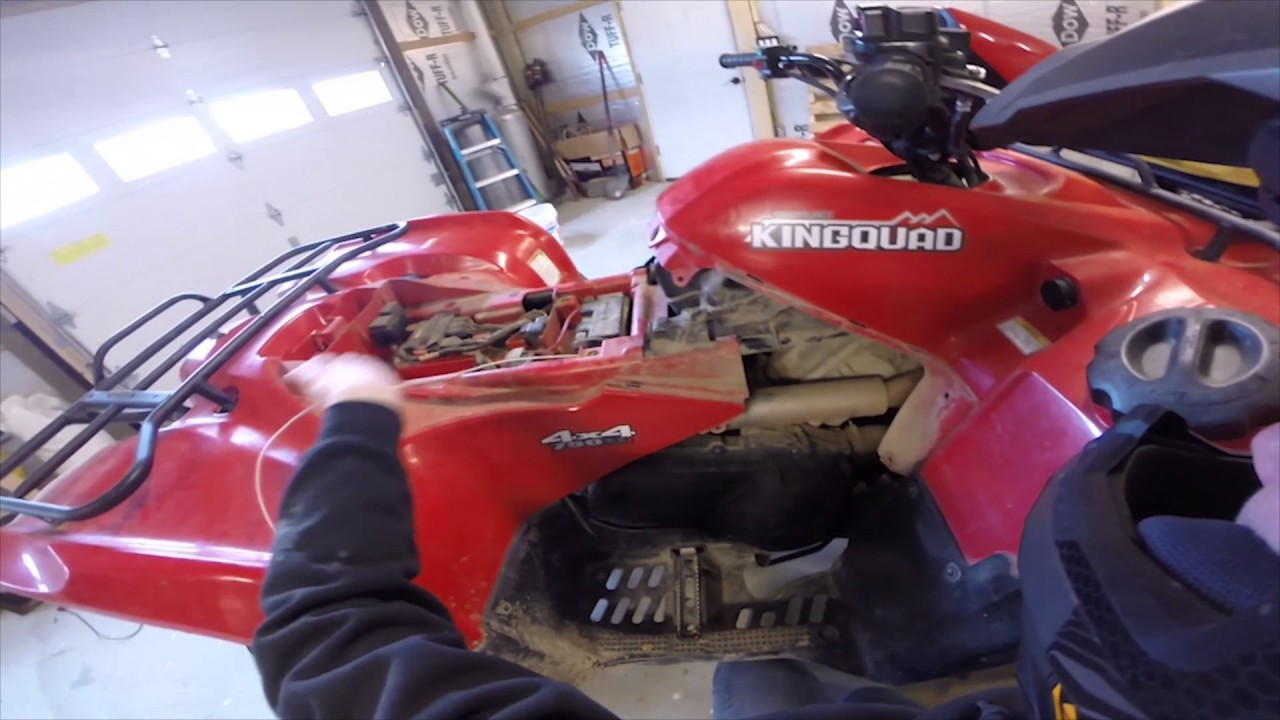 hight resolution of how to install a winch on a suzuki 750 king quad