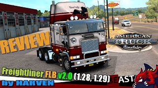 "[""ATS"", ""American Truck Simulator"", ""truck mod Freightliner FLB v2.0 by Harven (1.28 1.29) review"", ""Harven""]"