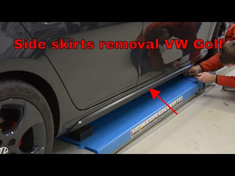 100% top quality biggest discount well known How to remove the side skirts VW Golf mk6 Gti - YouTube
