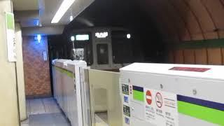 京王9000系9738F浜町駅通過※接近放送あり