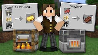 Minecraft Origens #4: AS NOVAS FORNALHAS DO MINECRAFT! E A NOVA VILA DO 1.14!