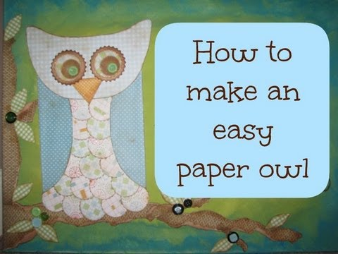 Easy to make paper owl