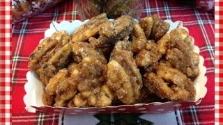 Cinnamon Vanilla Candied Pecans ~ Gifts from Noreen's Kitchen