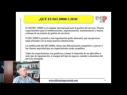 Que es el Sistema de gestion de Servicios (ISO 20000-1:2018)