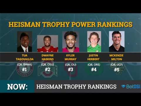 Top 10 Heisman Trophy Candidates: Tua Stays At #1, Will Grier, Johnathan Taylor Fall Out Of Top 5