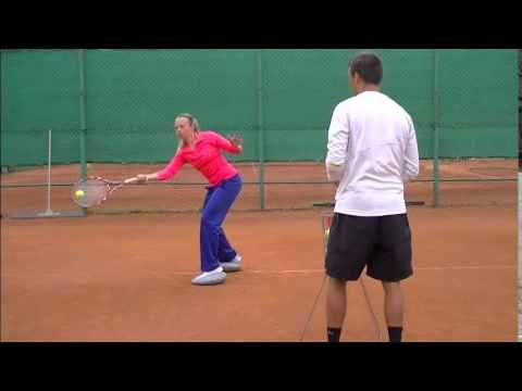 Balanced forehand in close stance (TENNIS ISLAND)