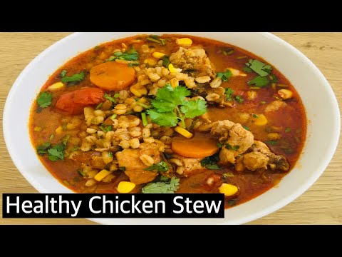 Positive Food:Spicy N Healthy Chicken Barley Stew | 1Pot Weight Loss Recipe