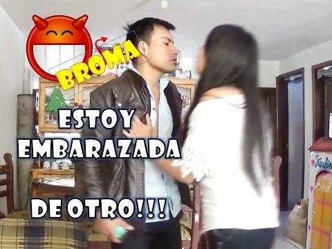 ebc317c84 BROMA A MI NOVIO ESTOY EMBARAZADA DE OTRO Y SE ENOJA!! - YouTube