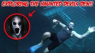 THE HAUNTED DEVILS DEN! EXPLORING THE DEEP DARK ABYSS | MOE SARGI