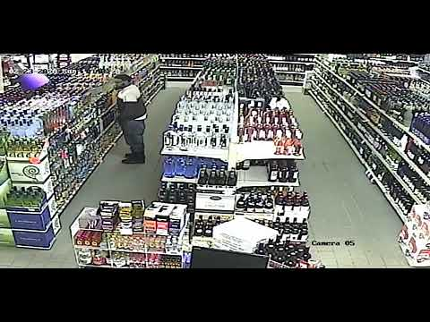 Surveillance Footage Shows Phillipsburg Liquor Store Shoplifter Putting Bottle In Pants