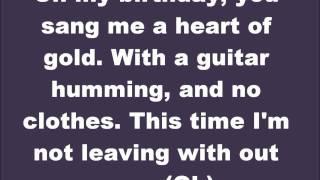 Lady Gaga - You and I Lyrics On Screen (New)