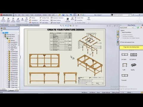 furniture in solidworks #4 (assembly and mechanical mate)