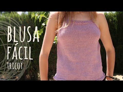 Tutorial blusa f cil tricot dos agujas youtube - Jerseys faciles de hacer ...