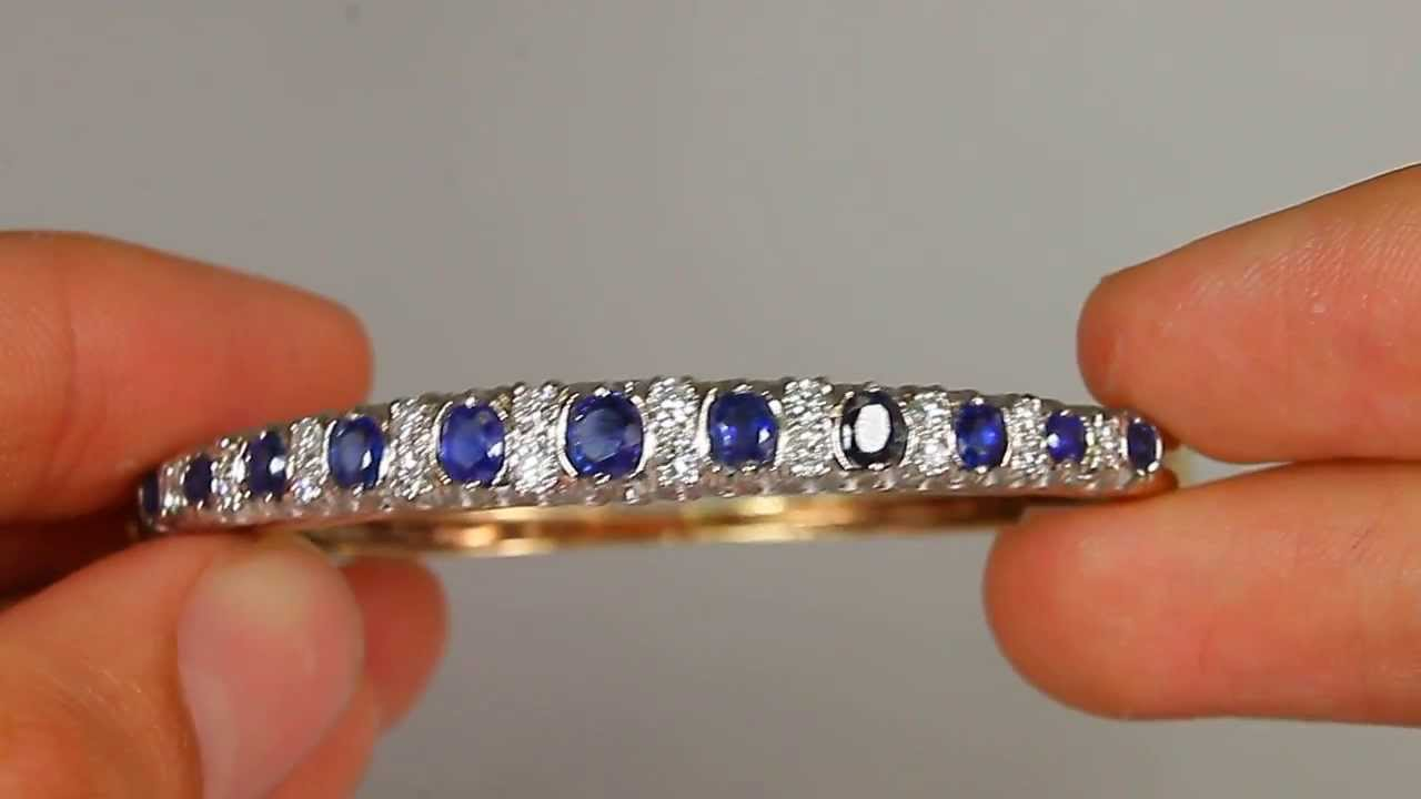 bracelet mccaskill company sapphire bangle bangles style lacy armenta diamond and