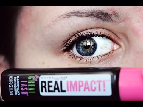 74abecf1891 Maybelline Great Lash Real Impact | mascara review& demo - YouTube