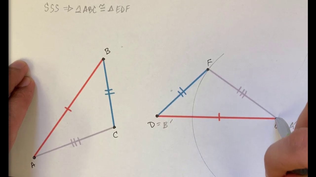 hight resolution of Proving the SSS triangle congruence criterion using transformations (video)    Khan Academy