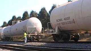 CSX A707-21 w/ Engineer Carolyn & Conductor Courtney Making a Pick Up at Lightfoot Mill Road Part 2