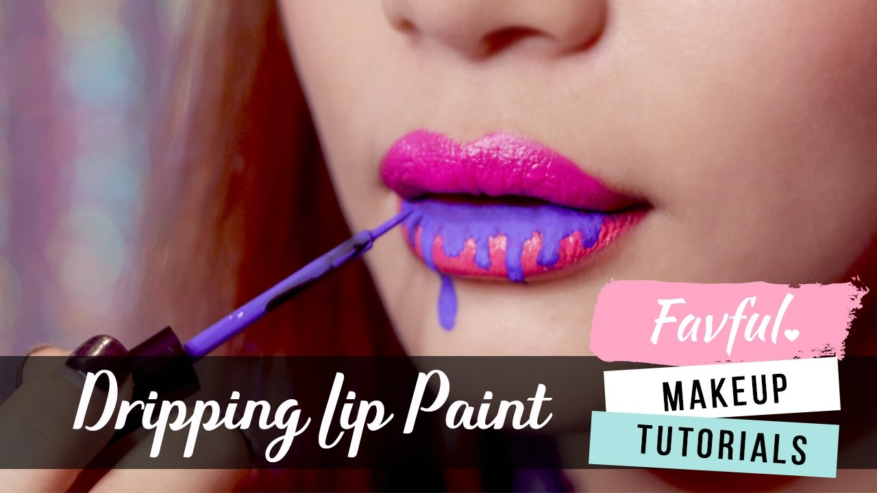 This Insanely Easy Dripping Lip Art Looks Amazing And Can Be Done In Under 3 Minutes Favful