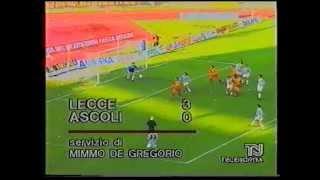 Lecce-ascoli 3-0 - 31/03/1996 campionato serie c1/girone b 1995/'96 10.a giornata di ritorno