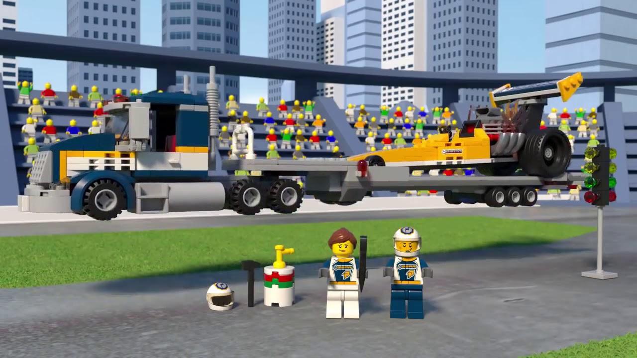 LEGO 60151 Dragster Transporter - LEGO City - BricksDirect com
