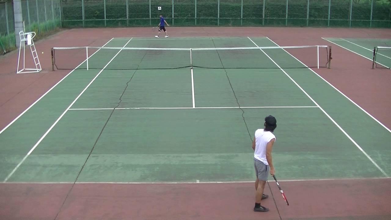ひで君とテニス試合(初級)2016年9月12日 - YouTube