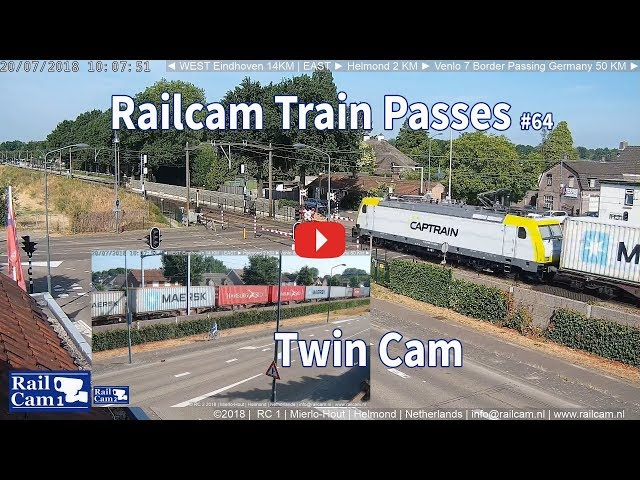 RailCam Train Passes on Twin Cam #64