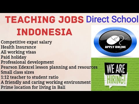 #Overcome #Teaching Jobs In Indonesia||How To Apply Online||Salary||Experience