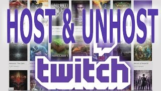 how to host aฑd unhost someone in twitch using host mode