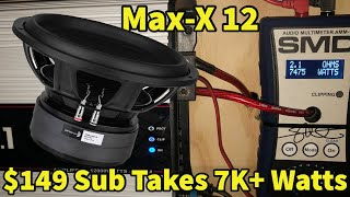 Budget Sub Took 10x its Rated Power? The *ALL NEW* Dayton Audio MaxX MX Subwoofer Review!