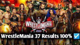 WrestleMania 37 Prediction, Match Card & 100% ☑️ Results || WrestleMania 37 Highlights