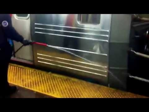 New York subway cleaning