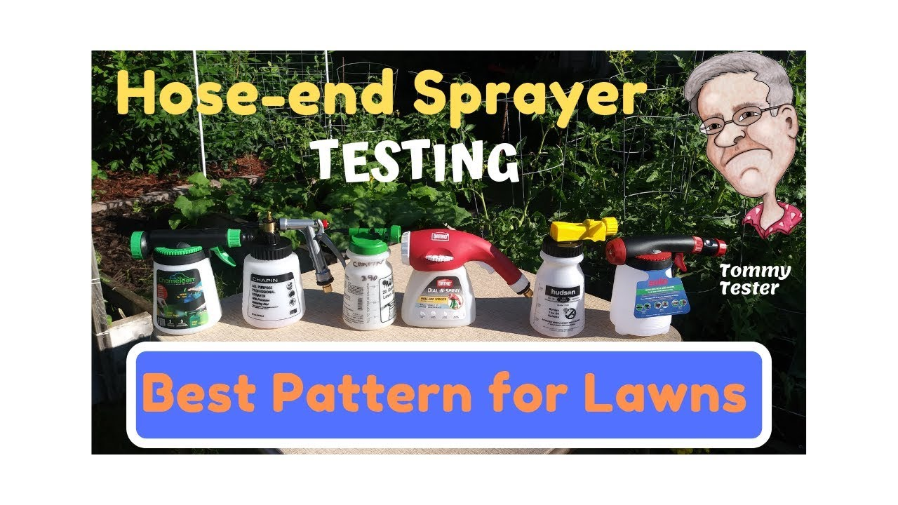 Hose-end Sprayer pattern comparison - 8 different sprayers