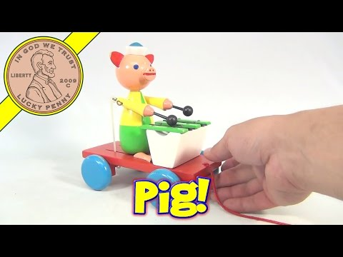 Pig Playing Musical Xylophone Pull Toy