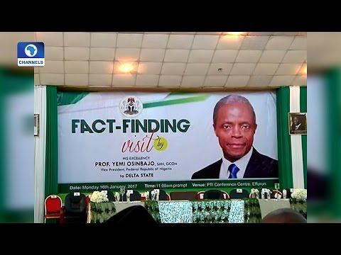 Special Report: VP Osinbajo's Visit, The Beginning Of A Peaceful Niger Delta? Pt.1