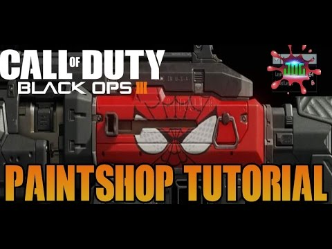 Black Ops 3: Spider-Man Paint Shop Tutorial: Call of Duty ...