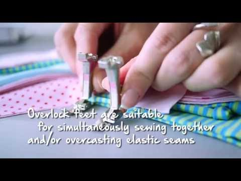 Tutorial: how to sew seams with the BERNINA overlock foot no  2