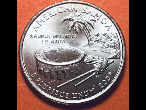 2009 US Quarter American Samoa - 25 Cents United States Coin